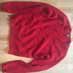 Wool sweater from Benetton in Italy.